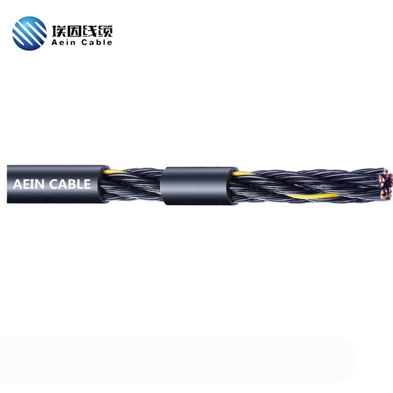 PUR拖链电缆 非屏蔽 单护套