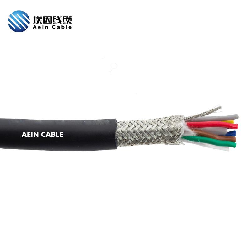 PUR拖链电缆 双绞屏蔽 单护